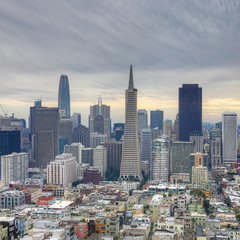 Square format of San Francisco, California city center