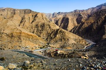 Jabal Jais landscape the highest mountain in the UAE