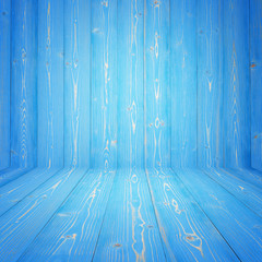 Blue pine wooden empty space. perspective wall. For display or montage product design