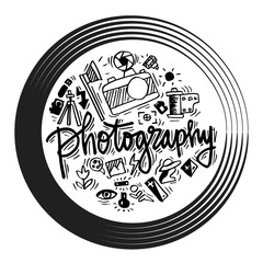 Doodle set of photography icons