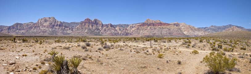 Red Rock Canyon panorama near Las Vegas Nevada.