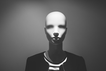 Mannequin fashion clothing in dark