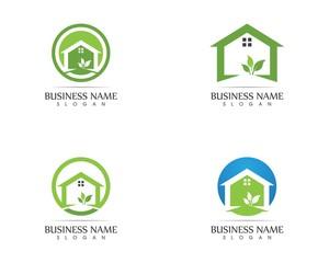 Building home nature logo design concept