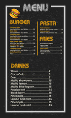 Menu Restaurant custom eps 10