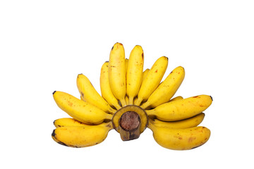 Banana isolated on white background with clipping path.