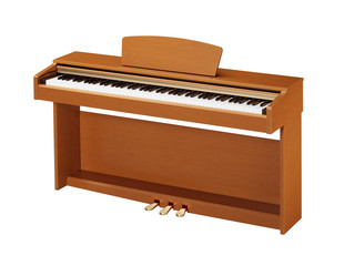 ebony and ivory keys of yellow piano