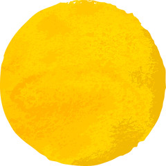 yellow Watercolor  stain isolated on white background