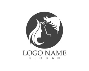 Haircut style logo design vector illustration