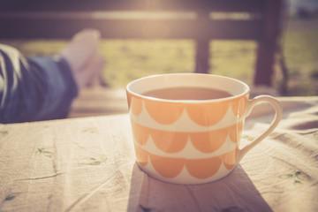 Tee in der Morgensonne, Sonnenstrahlen