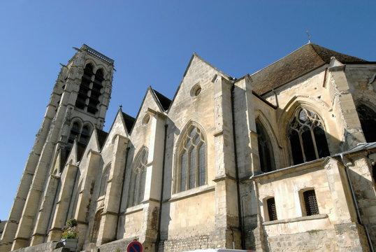 Château-Thierry ville département de l'Aisne, église Saint Crépin, France