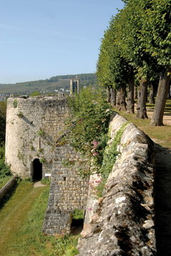 Château-Thierry dans l'Aisne, Château médiéval, France
