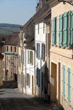 Château-Thierry, ville de l'Aisne, Jolies façades du centre ville, France