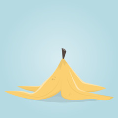 banana peel clipart