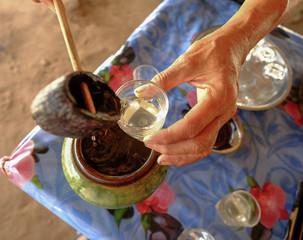 Making traditional palm sugar