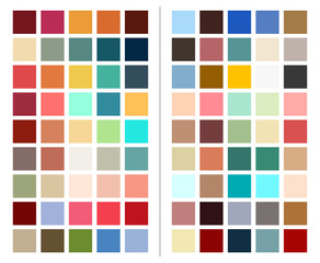 color chart, scheme for marketing strategy