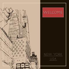 Graphic illustration with decorative architecture 73