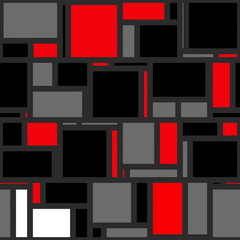 Mondrian Abstract Background Pattern