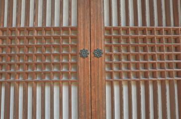 Korean traditional architectural pattern door