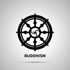 Buddhism religion simple black icon