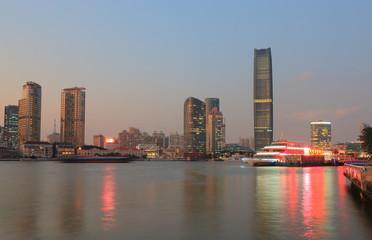 Waterfront cityscape Shanghai China