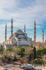 View of the Blue Mosque in Istanbul Turkey