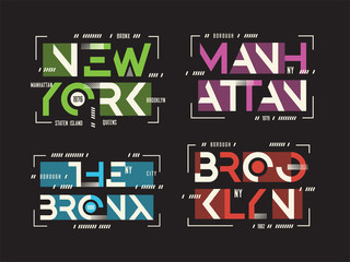New York Brooklyn The Bronx Manhattan vector t-shirt and apparel