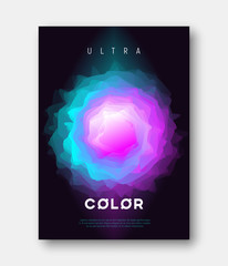 A4 size vector abstract colorful gradient liquid futuristic desi