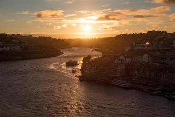 Porto Sunset over Douro River, Portugal
