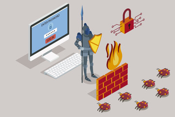 Security data protection with firewall