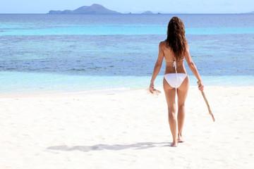 Attractive woman enjoying the beach, Philippines