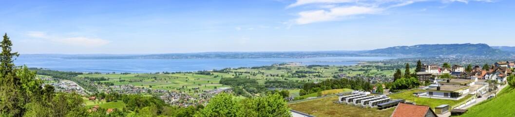 Panorama am östlichen Bodensee
