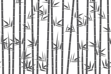 Green bamboo background. Vector illustration