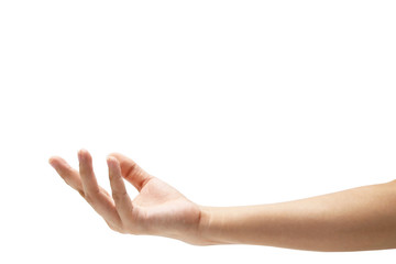 Hand isolated on white background(Clipping path)