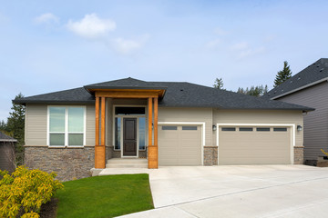 New Custom Built Home in Suburban Neighborhood