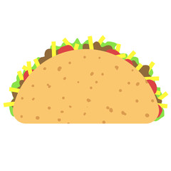 Taco clipart isolated on white background