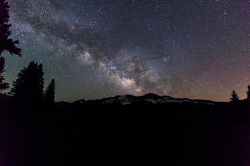 Milky Way and Nighttime int he Mountains