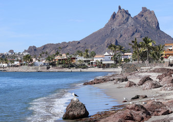 A Scenic View of Tetakawi Mountain Above San Carlos, Sonora, Mexico