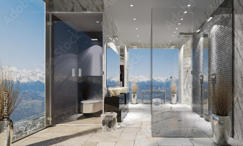 Salle de bain contemporaine\