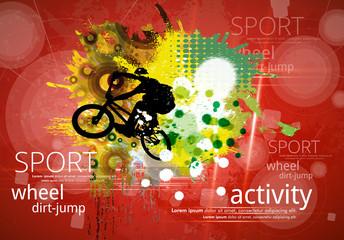 Bicycle jumper during danger trick