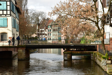 Strasbourg; France - march 5 2017 : picturesque city center