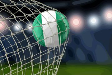 Nigerian soccerball in net