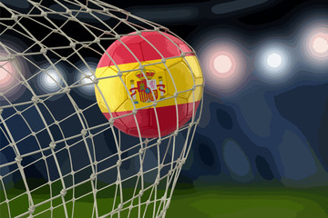 Spanish soccerball in net