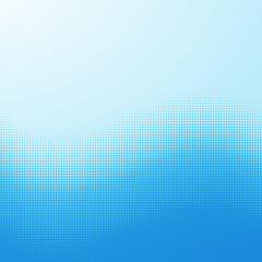 Screentone Graphics_Halftone Gradation_Blue Dots