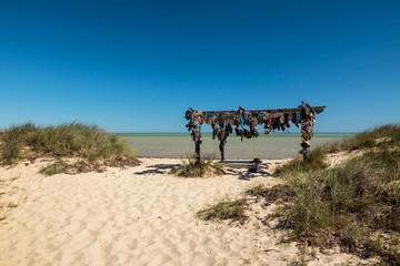 Famous thongs beach near Denham in Western Australia.