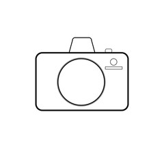 Vector icon of the camera consisting of lines