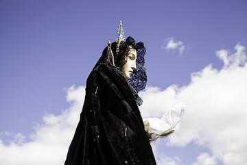 Virgin in procession