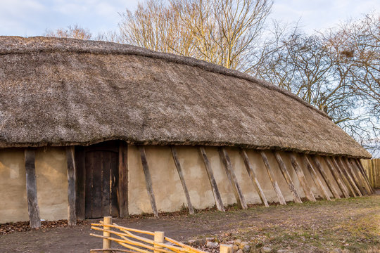 Reconstruction of a viking longhouse