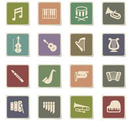 classic instruments icon set