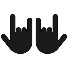Two Rock On Hand Sign