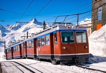 Zugfahrt zum Matterhorn, Gornergrat, Zermatt, Schweiz